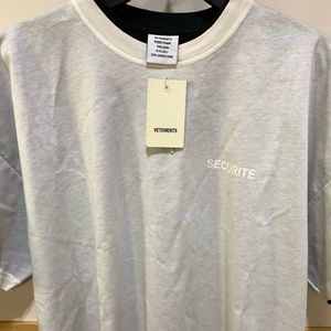 White double-layered Vetements 'Securite' Shirt